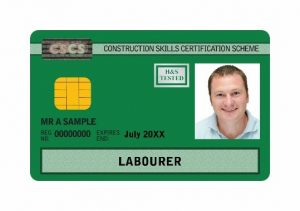 Green CSCS card